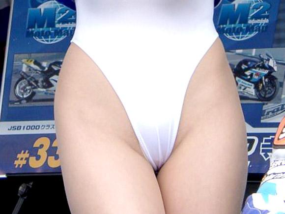 美人RQがハイレグからハミ毛とか食い込み連発wwwサーキット場っていつもこんなにエロいの?