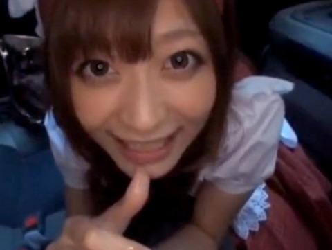 【動画】さとう遥希がメイドコスで街歩き→車内フェラでさせてお持ち帰りwww xvideos
