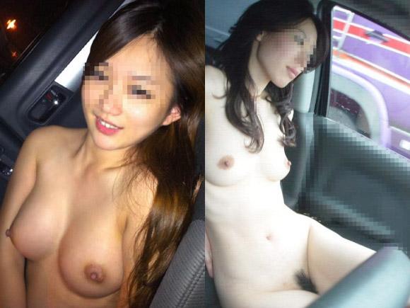 綺麗なお姉さんも可愛らしい女子大学生も彼氏の命令で車の中で脱ぐ