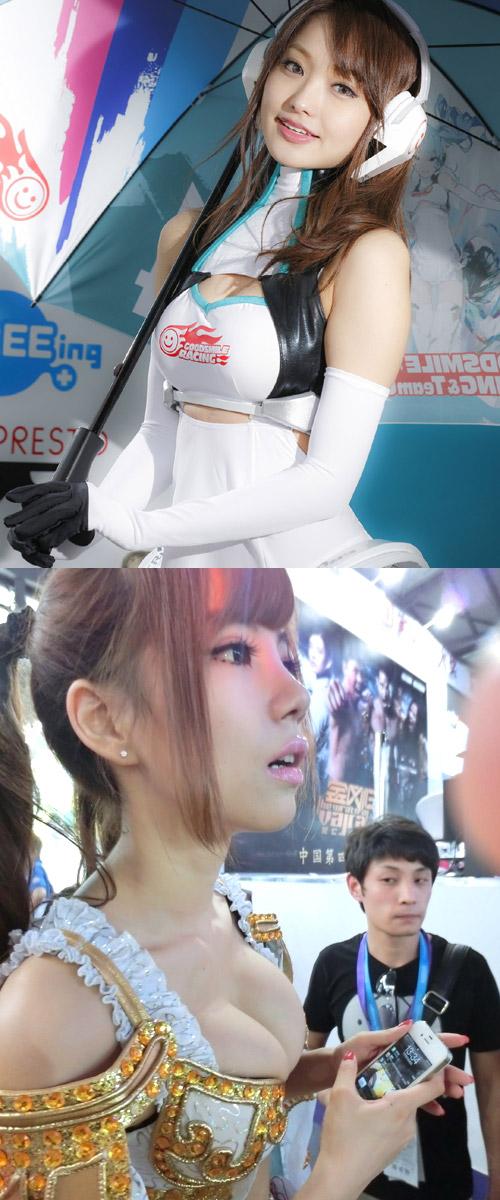 【キャンギャルエロ画像】日本人のみならず可愛いキャンギャル集めたった!