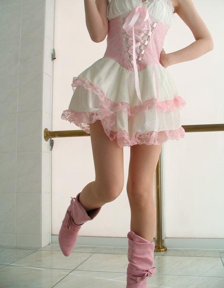 スカートと綺麗な脚007