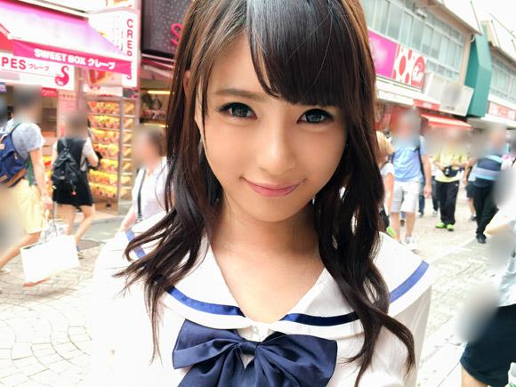 カラコンを付けてても良いと言えるくらい可愛い女の子。原宿の竹下通りでも人目を引きまくるくらい可愛い