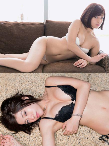 18072大澤玲美の白い下着と黒い下着画像002