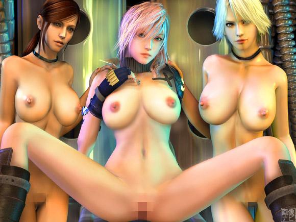 3キャラ全裸