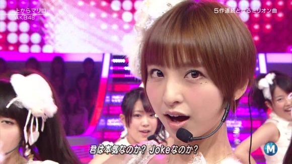 篠田麻里子の舌フェチな擬似フェラ画像011