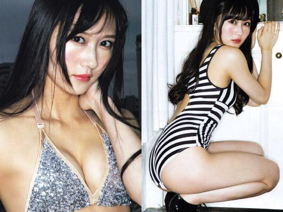 お嬢様系のルックスで大人気のNMB48の矢倉楓子。意外にも過激なグラビアも多く、今回はホテルでの大人デートを感じさせる写真
