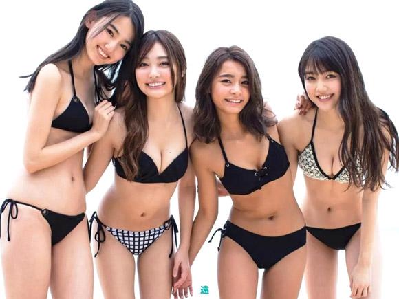今大人気のモグラ女子4人が集結した美しすぎるグラビア画像