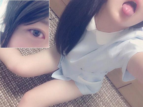 看護学生の自撮りエロ写メ