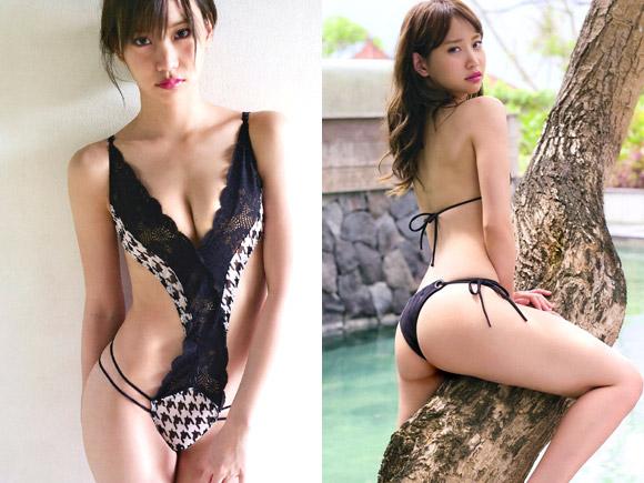 着エロばりの過激な水着でグラビアに登場した永尾まりや。元々モデル体型で綺麗系担当だった彼女が卒業後グラビアでその美貌に満ちたカラダを見せつける!