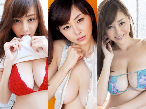 【Gカップ】杉原杏璃の猥褻過ぎる爆乳を堪能するエロ画像