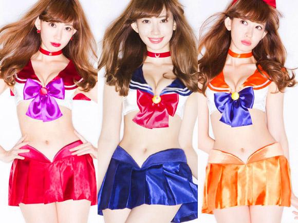 AKB小嶋陽菜(26)のセーラームーン下着姿が風俗嬢ばりにエロい!画像×12
