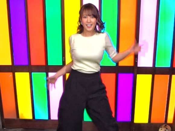 紺野アナの人気番組で本気で踊る鷲見玲奈