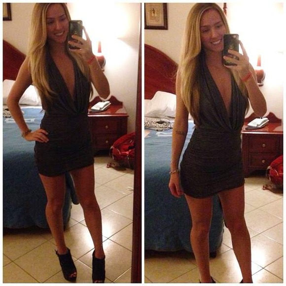 タイトドレス姿の海外美女027