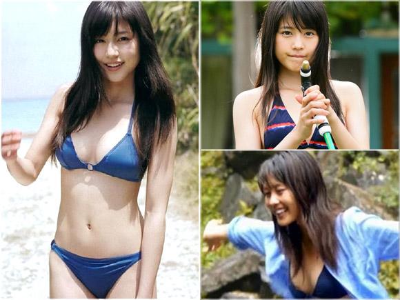 大人気若手女優の有村架純の右側の胸の乳首が見えちゃったお宝映像からのキャプ画像