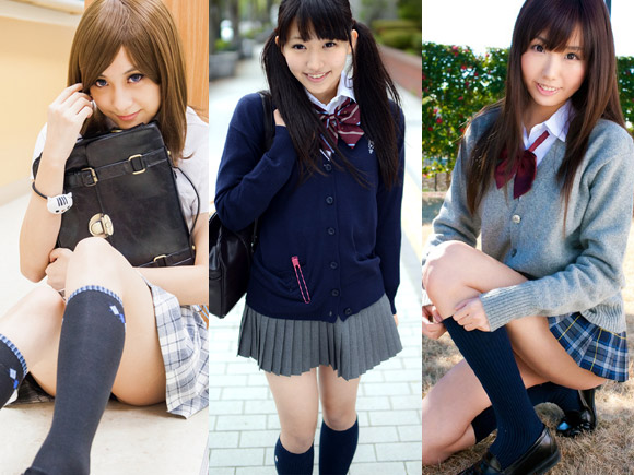可愛い女子校生の脚フェチ画像