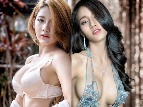 可愛くて巨乳なアジア美女のエロ画像