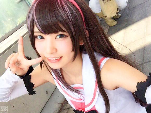 撮影するファンの数もダントツで絶大な人気を証明した日本一の美少女コスプレイヤーえなこさん