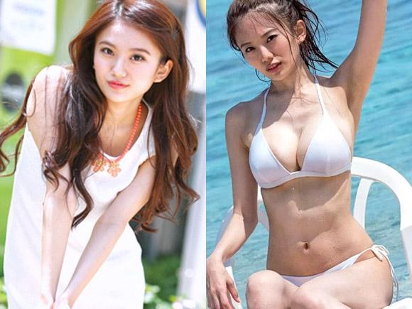 爆乳過ぎる美人女子大生としても話題になったミス近大のパーフェクト美女
