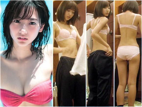 武田玲奈が脱衣所でブラジャーとパンツ姿になる衝撃映像