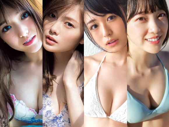 左から松村沙友理、白石麻衣、長濱ねる、堀未央奈
