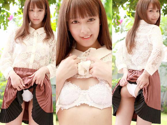 池田ショコラがランジェリー姿を見せて誘惑するエロ画像