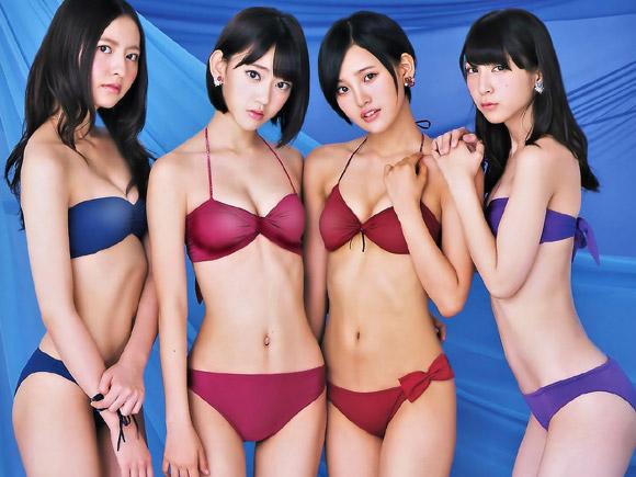 HKT48グラビア選抜四人の水着姿