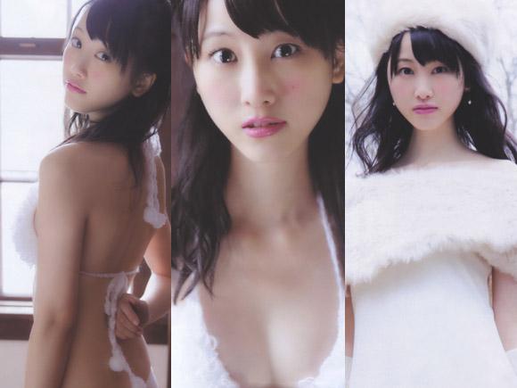 純白水着の松井玲奈
