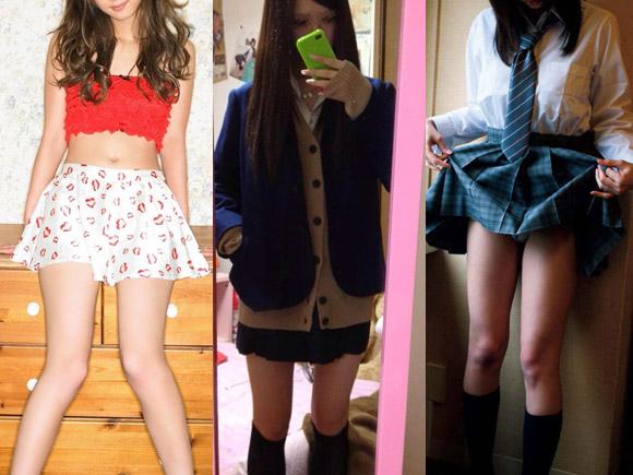 スカート×美脚