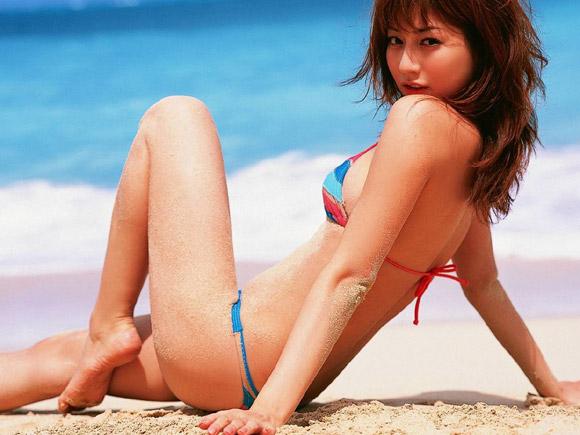 杉本有美と二人っきりで真夏のバカンス。妄想用画像×62