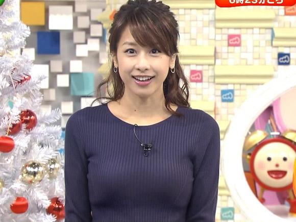 フジテレビの超人気アナウンサー加藤綾子