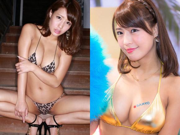 橋本梨菜(23) 変態水着と過激下着で魅せるマシュマロGカップ!