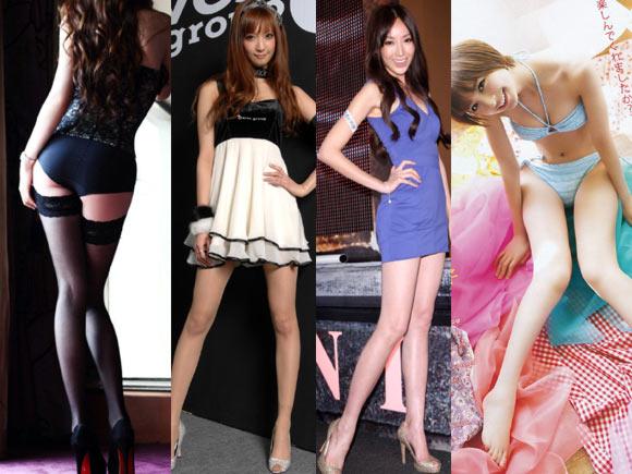 モデル体型な美女の脚フェチ画像