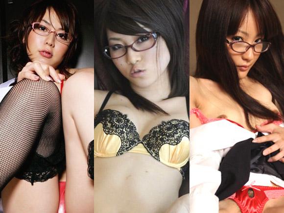 黒髪でメガネの似合う可愛いお姉さんたちのエロ画像50枚