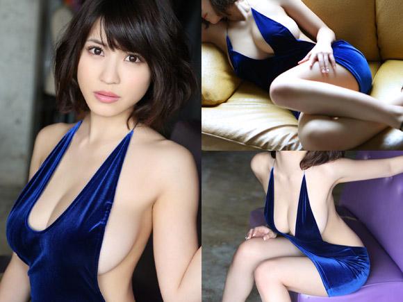 超名作グラビア劇場 岸明日香(23)の圧倒的はみ出し力と青いドレス。
