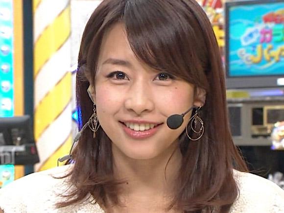 恥ずかしい瞬間をカメラに捉えられてしまったカトパンこと加藤綾子アナ
