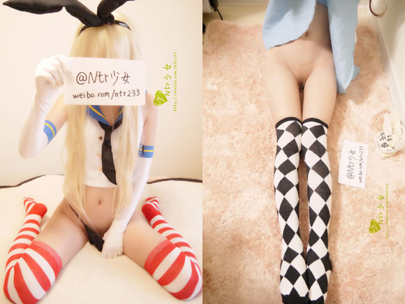 中国版Twitterのweibo(微博)でコスプレパイパン晒してたNTR少女がエロい