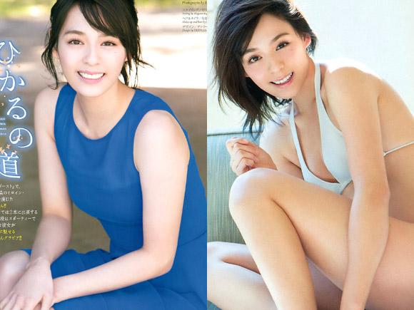 若手女優の大沢ひかる(21) 美しく完成された水着グラビア。