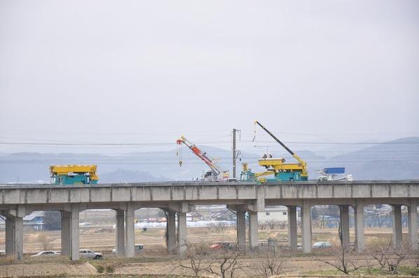 新幹線復旧工事