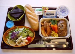 エールフランスエコノミークラス機内食