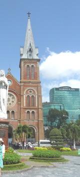 ヴェトナム 平和の願い 教会の前