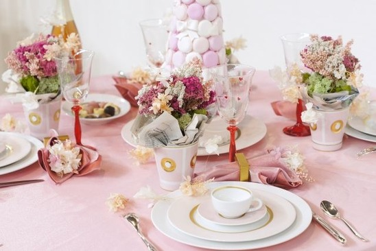 table setting&flowers by saiba-