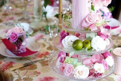 pink flowers&apples saiba-