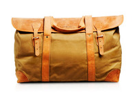 Tan Canvas & Leather - Long Weekender