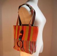 (2) カラフル手織りトートバッグ(ブルキナファソ)