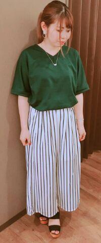 ☆ネックレス付きポンチ素材カットソー☆