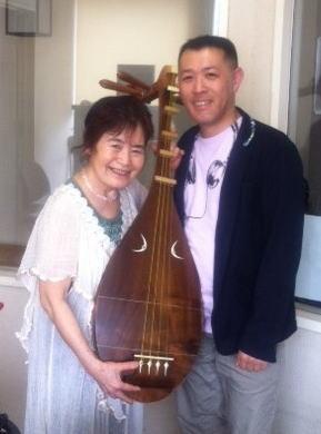 薩摩琵琶奏者の平悦子さん