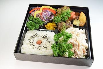 011冷しゃぶ&デミグラハンバーグ弁当【全体】