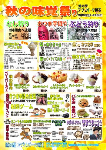 9 味覚祭りチラシ最新