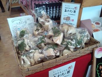 あわび茸のバター焼き試食販売 (1)