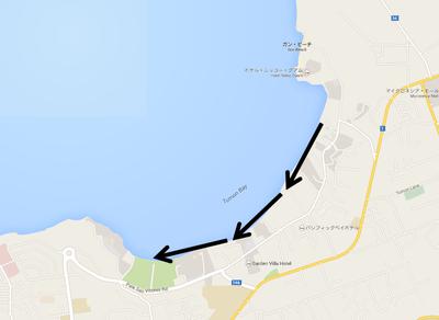 タモン湾の地図